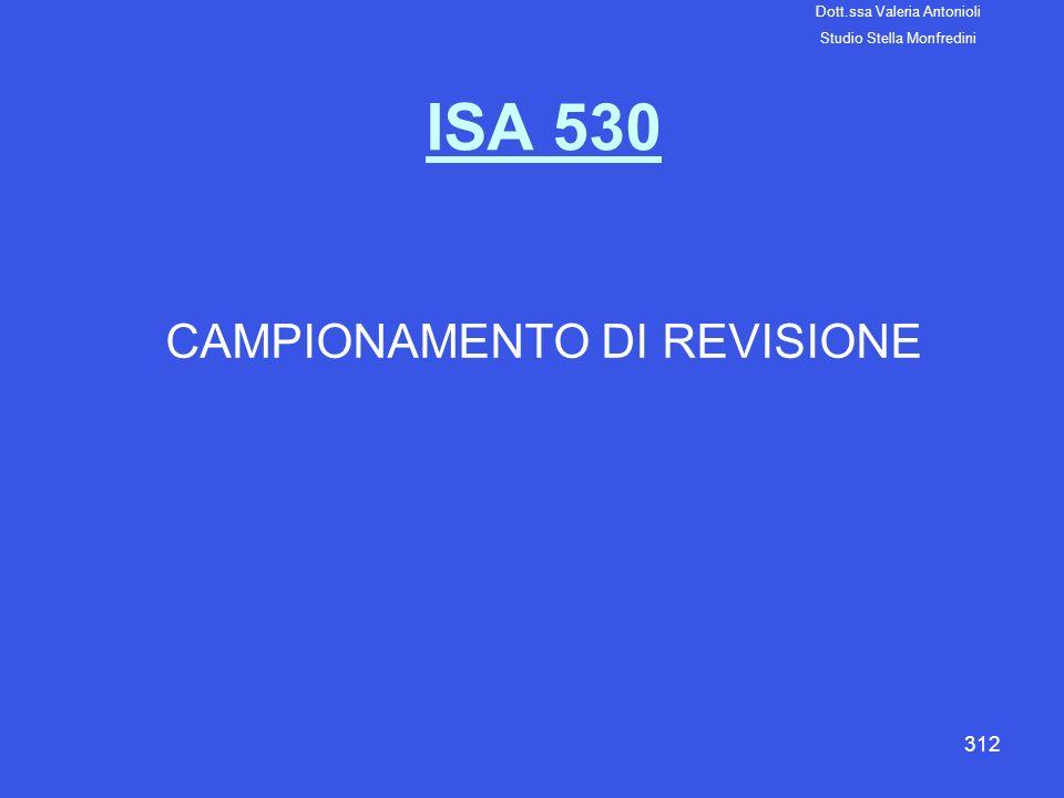 CAMPIONAMENTO DI REVISIONE