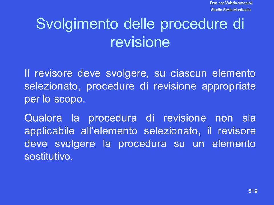 Svolgimento delle procedure di revisione