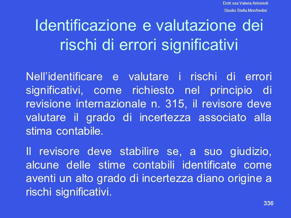 Identificazione e valutazione dei rischi di errori significativi