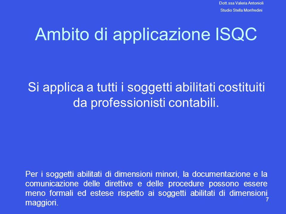 Ambito di applicazione ISQC