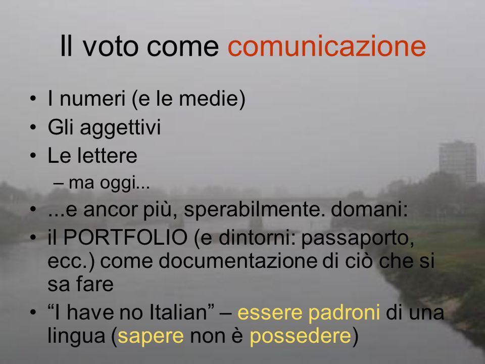Il voto come comunicazione