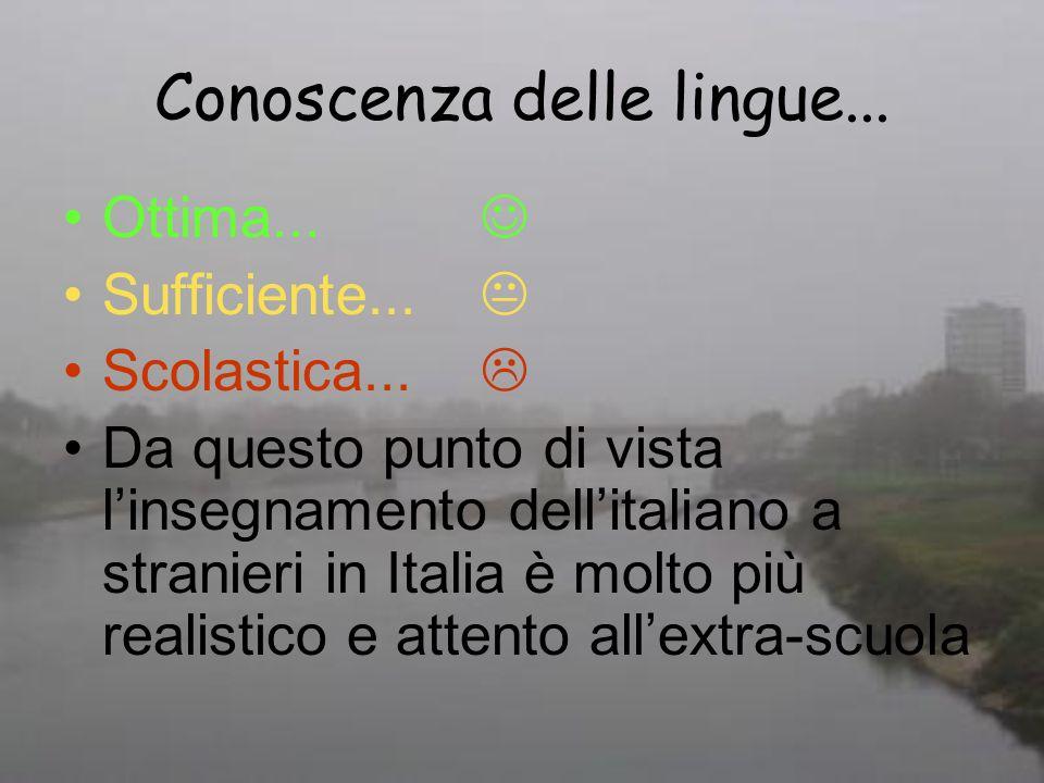 Conoscenza delle lingue...