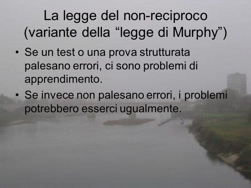 La legge del non-reciproco (variante della legge di Murphy )