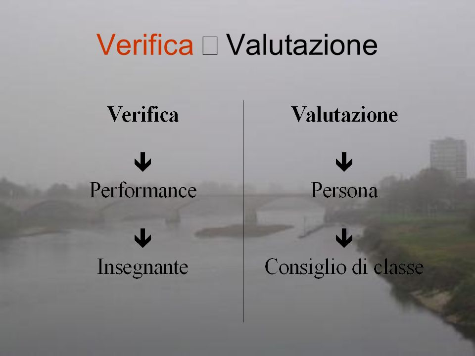 Verifica ¹ Valutazione