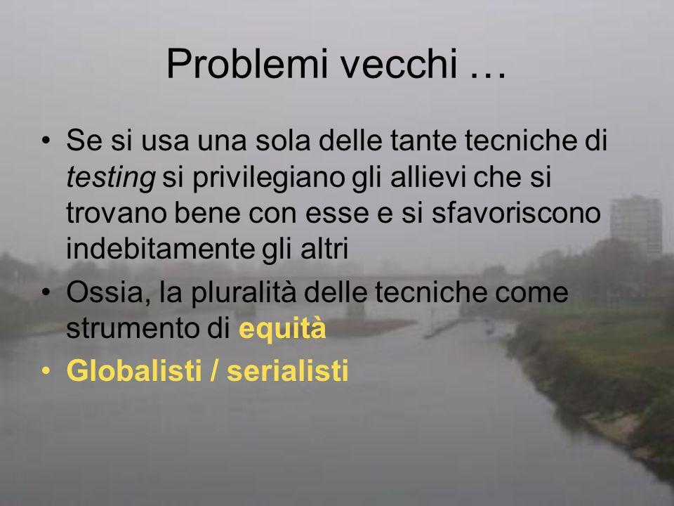 Problemi vecchi …