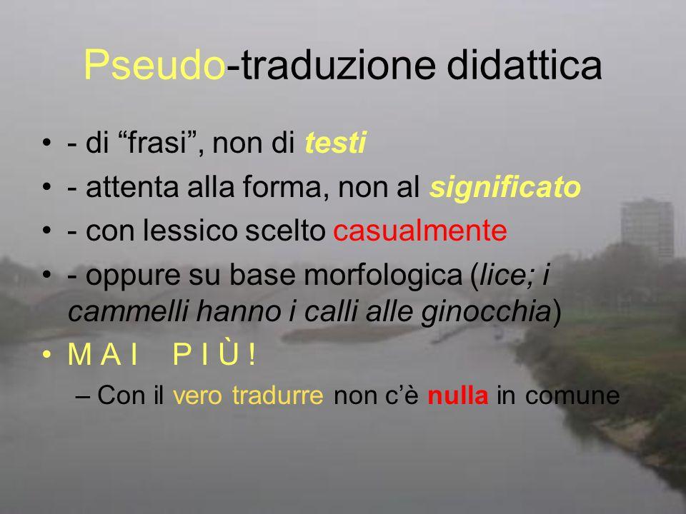 Pseudo-traduzione didattica
