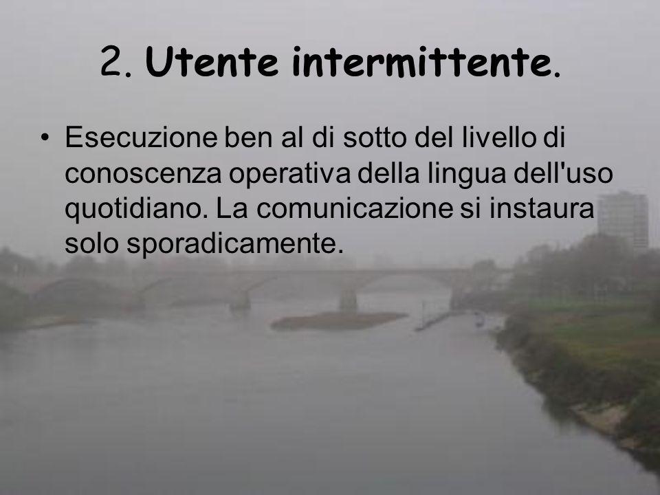 2. Utente intermittente.