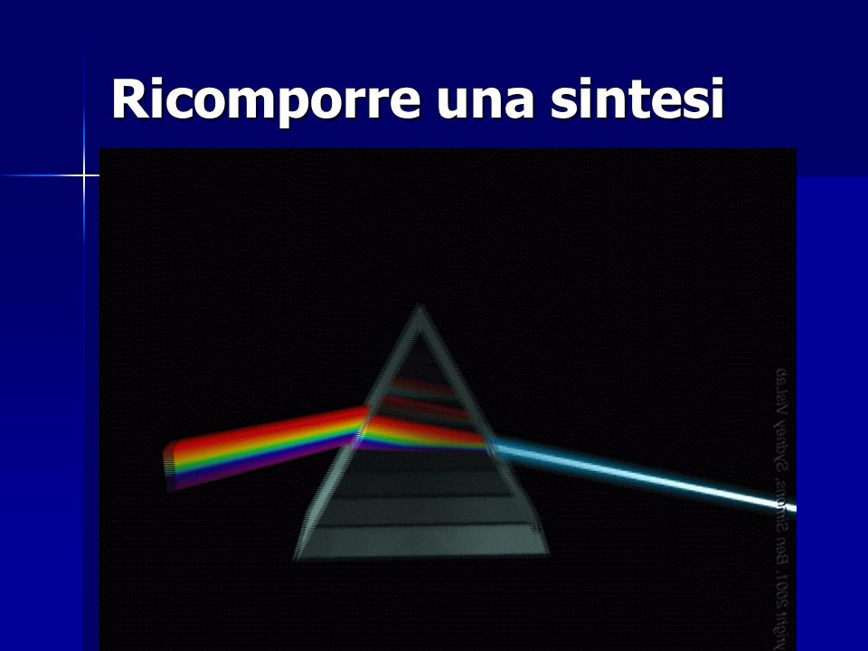 Ricomporre una sintesi