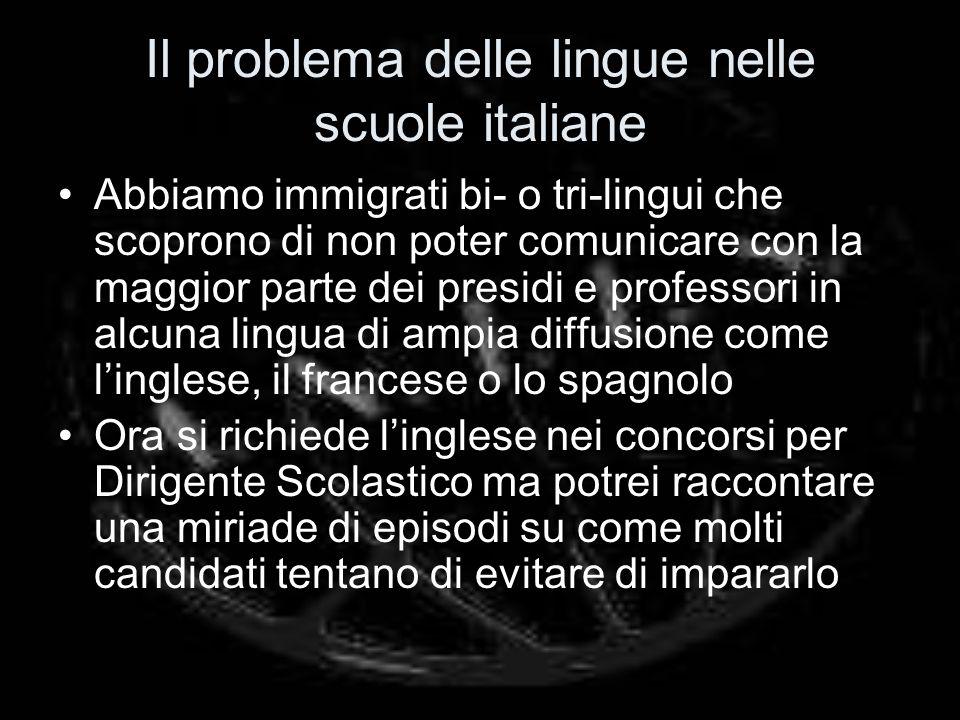 Il problema delle lingue nelle scuole italiane