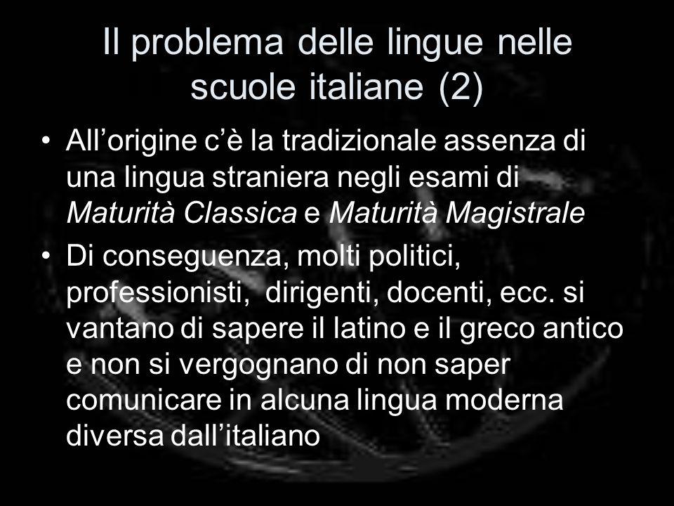 Il problema delle lingue nelle scuole italiane (2)