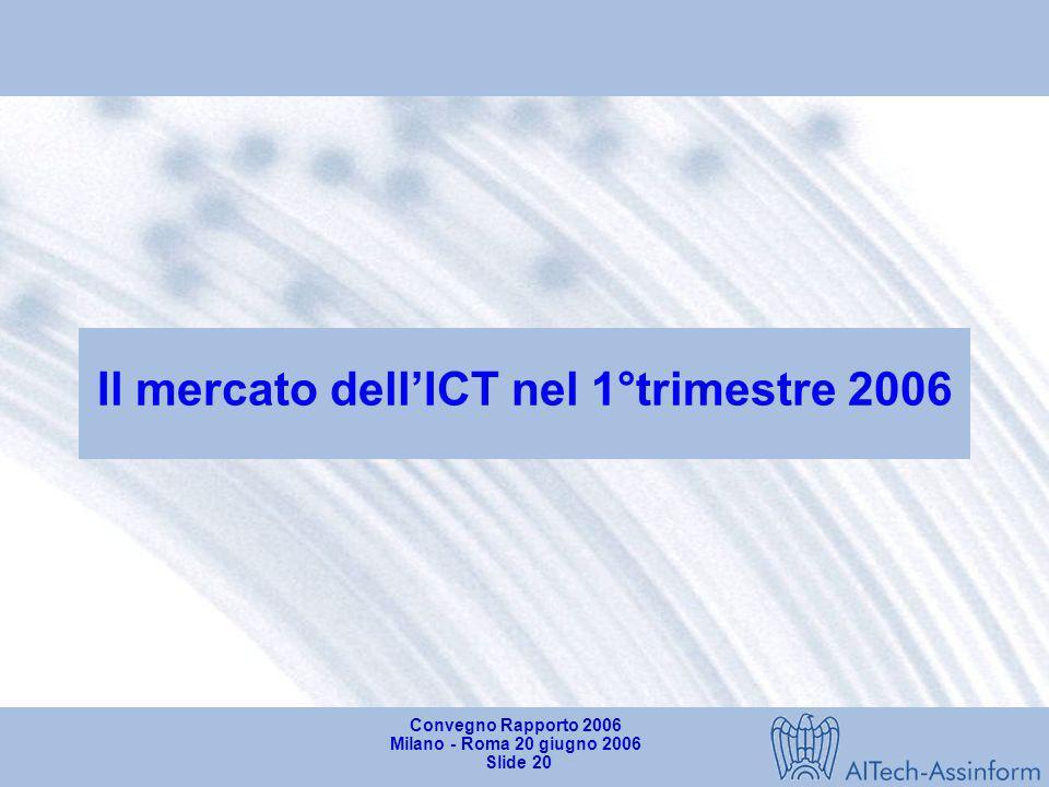 Il mercato dell'ICT nel 1°trimestre 2006
