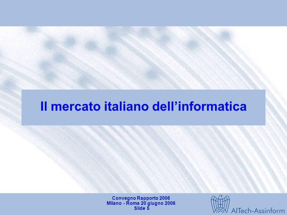 Il mercato italiano dell'informatica