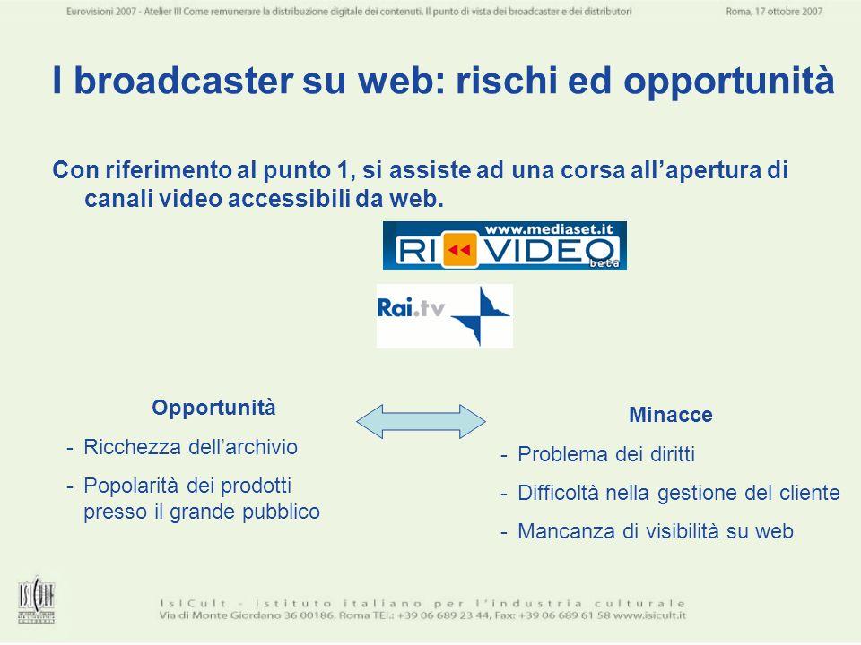 I broadcaster su web: rischi ed opportunità