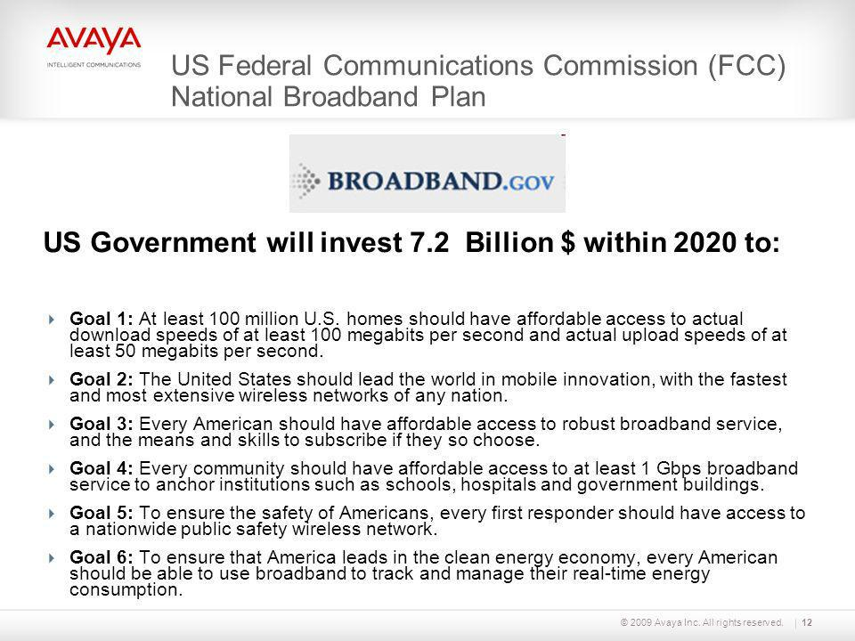 US Federal Communications Commission (FCC) National Broadband Plan