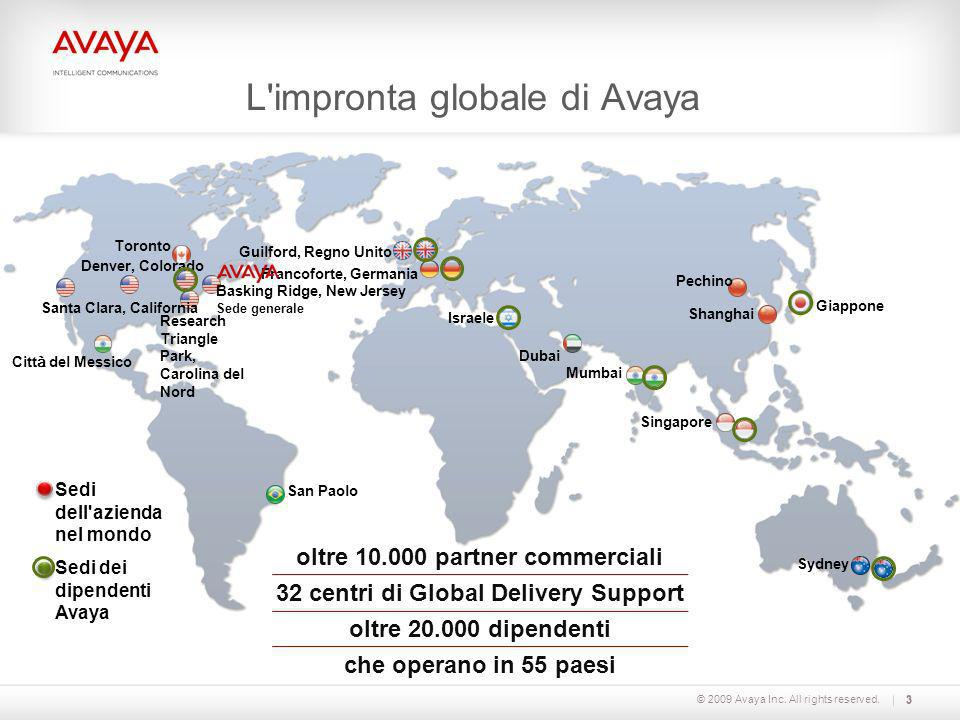 L impronta globale di Avaya