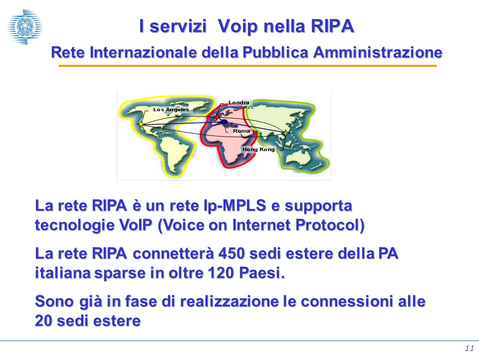 I servizi Voip nella RIPA Rete Internazionale della Pubblica Amministrazione