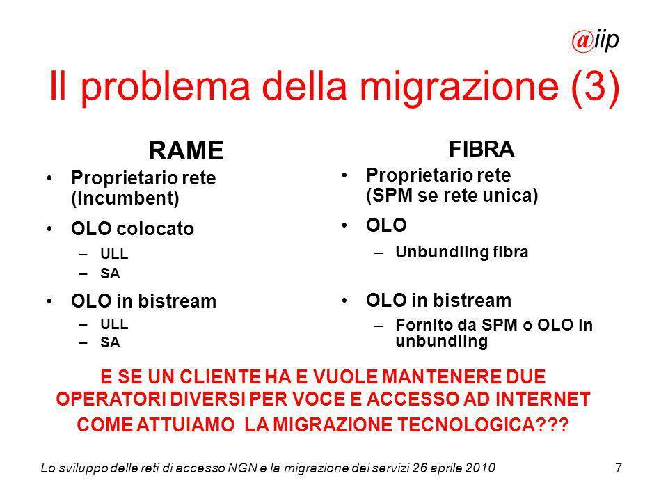 Il problema della migrazione (3)