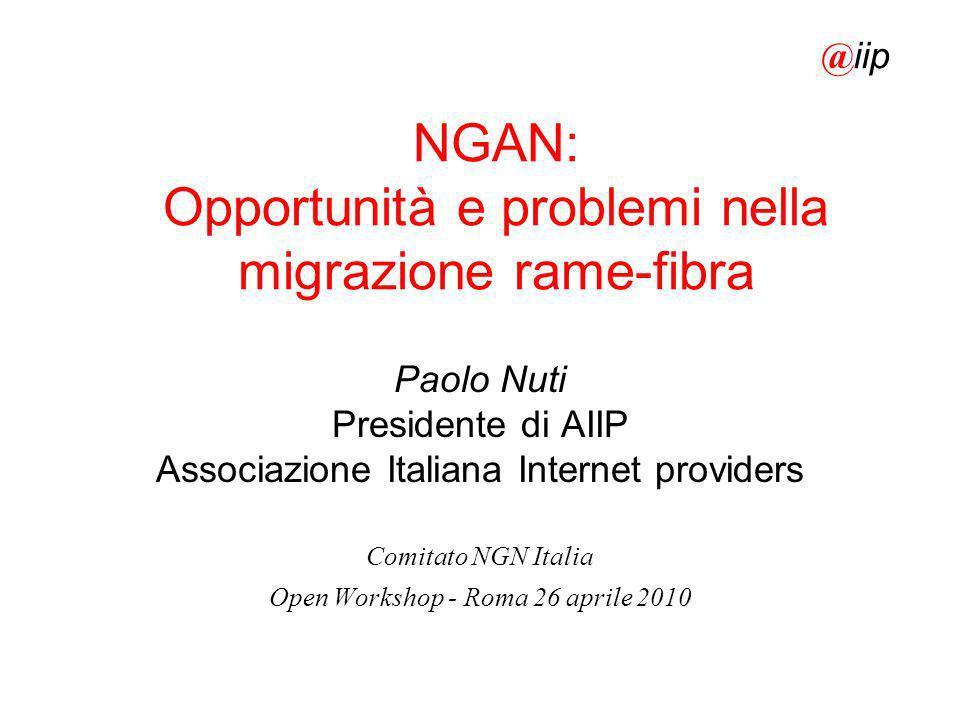 NGAN: Opportunità e problemi nella migrazione rame-fibra