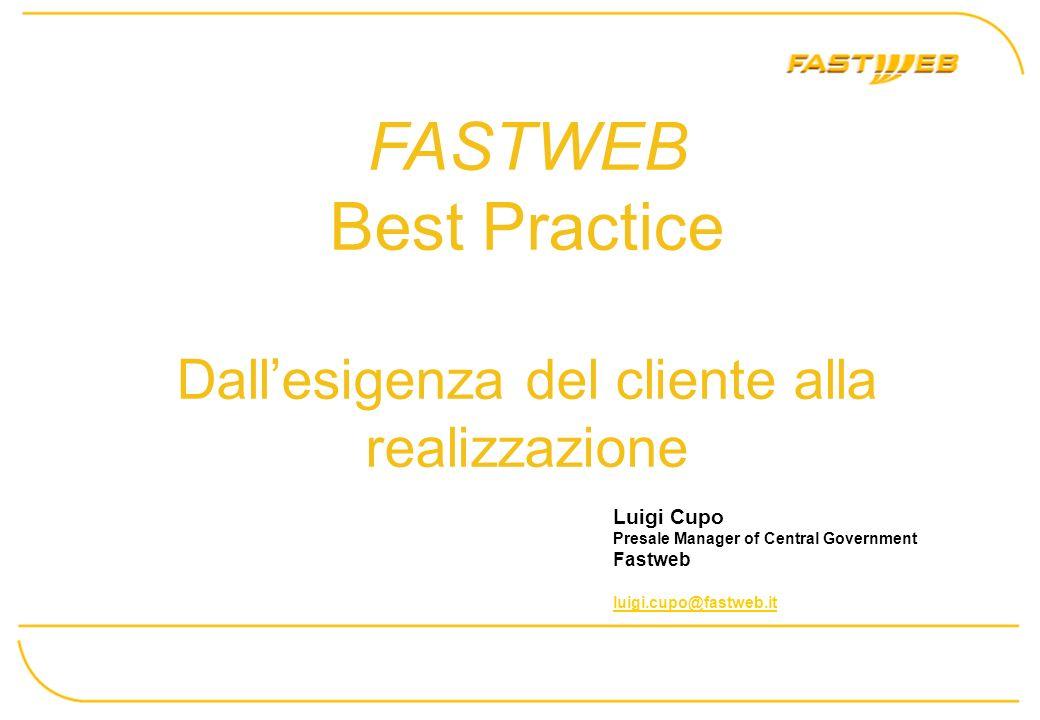 FASTWEB Best Practice Dall'esigenza del cliente alla realizzazione