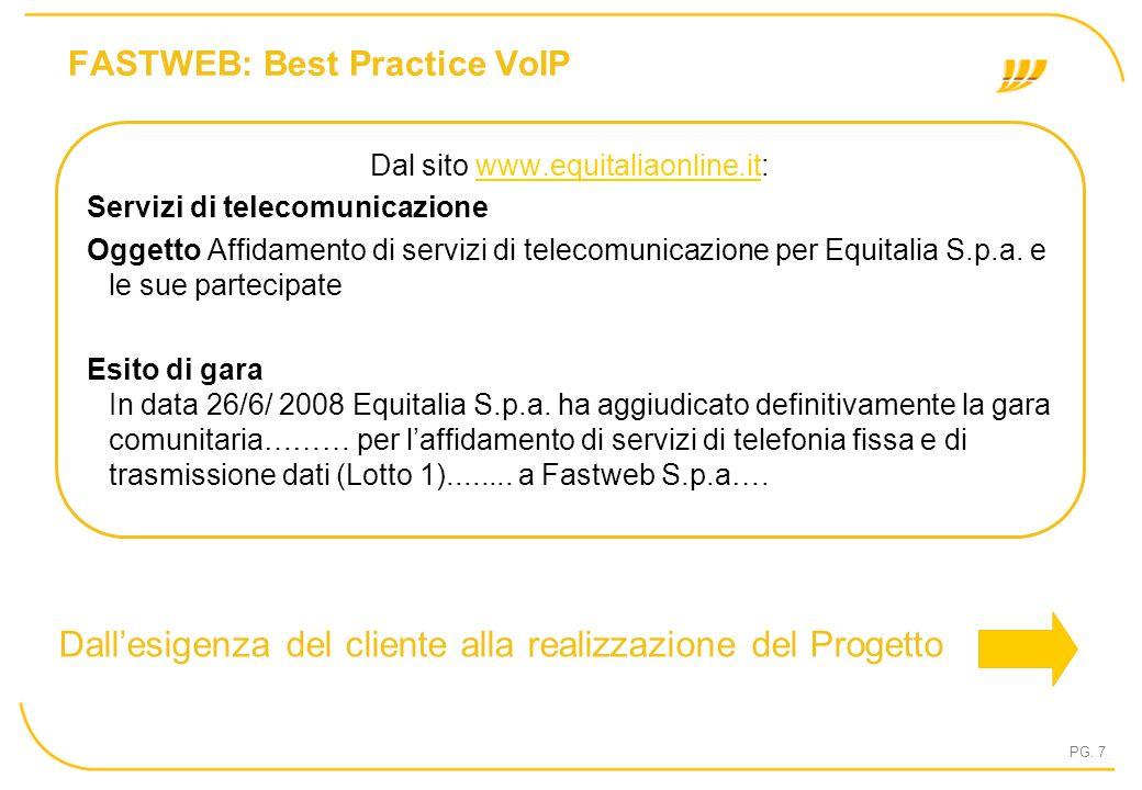 FASTWEB: Best Practice VoIP
