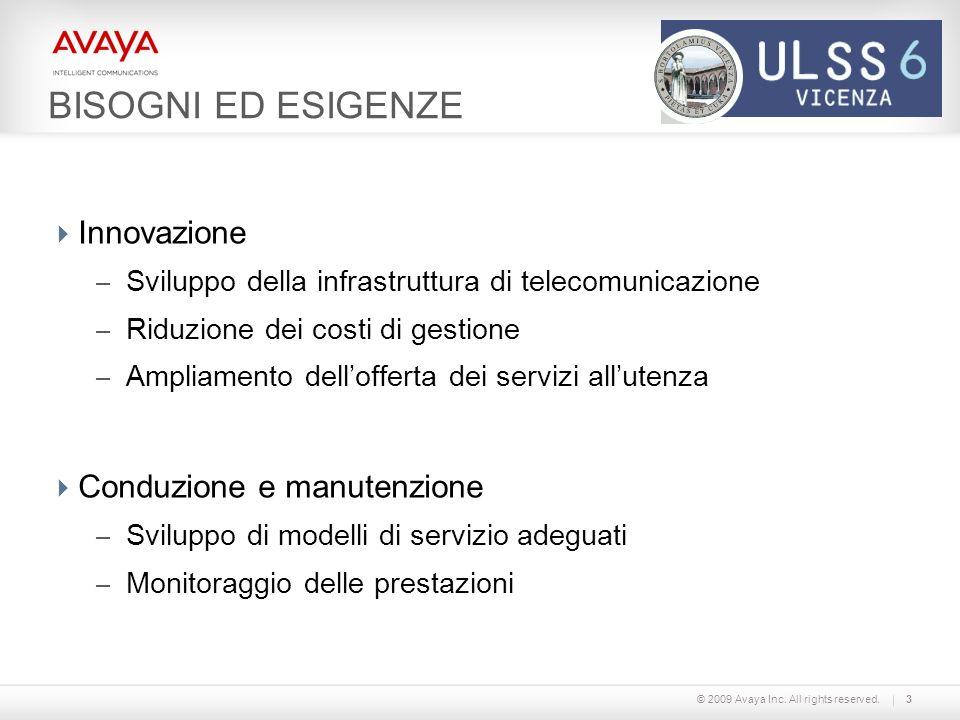 BISOGNI ED ESIGENZE Innovazione Conduzione e manutenzione