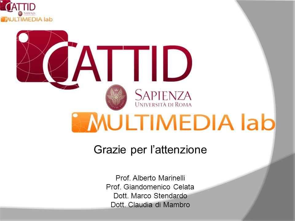 Grazie per l'attenzione Prof. Alberto Marinelli Prof