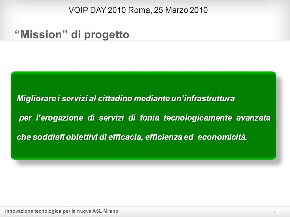 Mission di progetto VOIP DAY 2010 Roma, 25 Marzo 2010