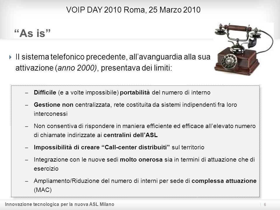 As is VOIP DAY 2010 Roma, 25 Marzo 2010