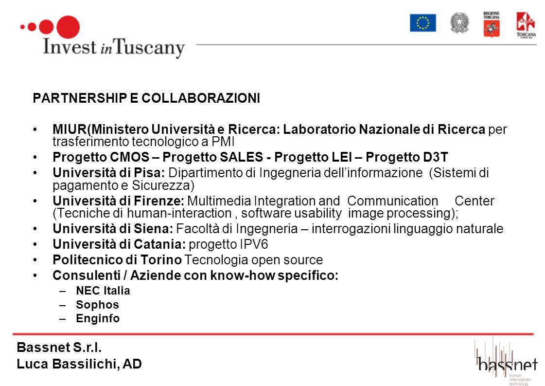 Bassnet S.r.l. Luca Bassilichi, AD PARTNERSHIP E COLLABORAZIONI