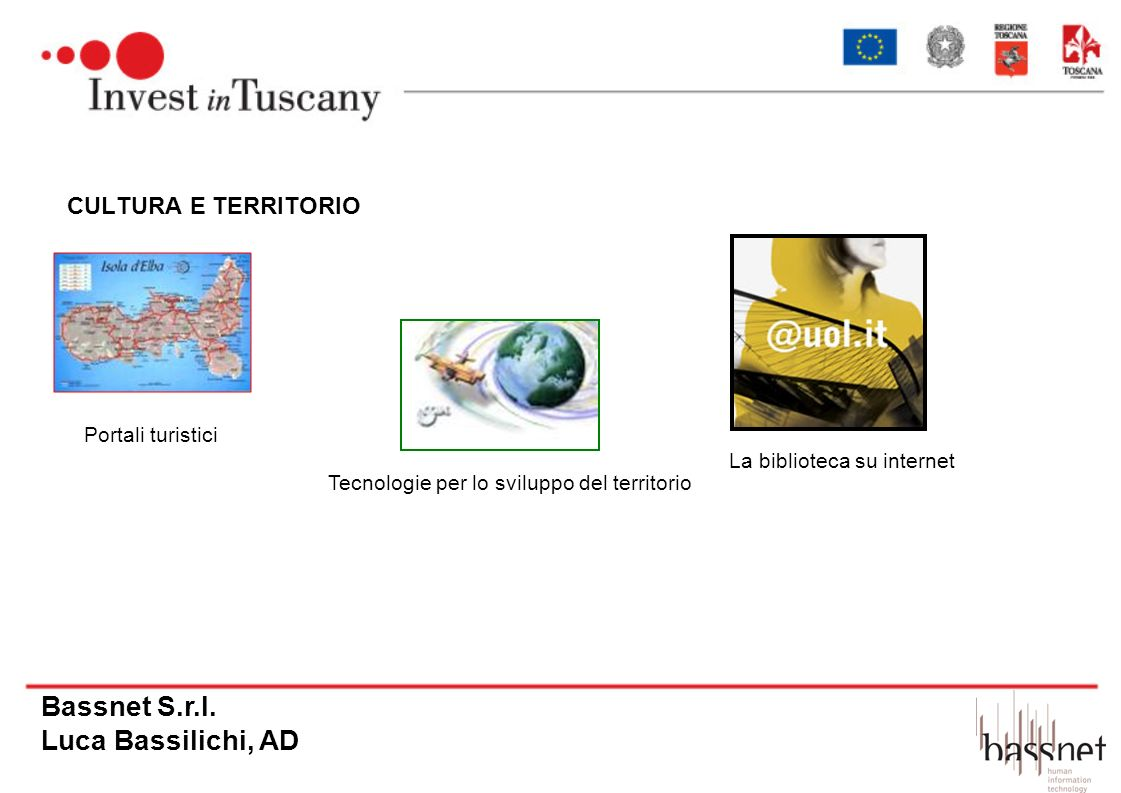 Bassnet S.r.l. Luca Bassilichi, AD CULTURA E TERRITORIO
