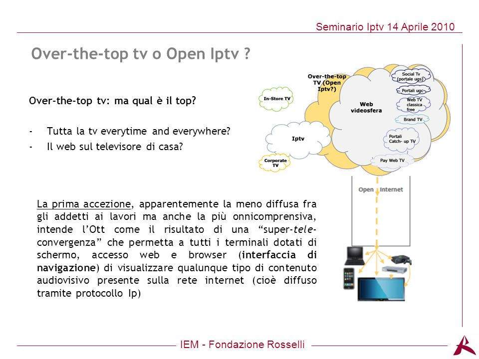 Over-the-top tv o Open Iptv