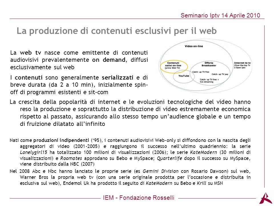 La produzione di contenuti esclusivi per il web