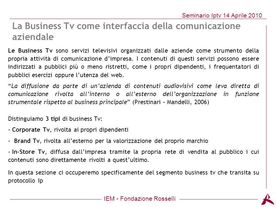 La Business Tv come interfaccia della comunicazione aziendale