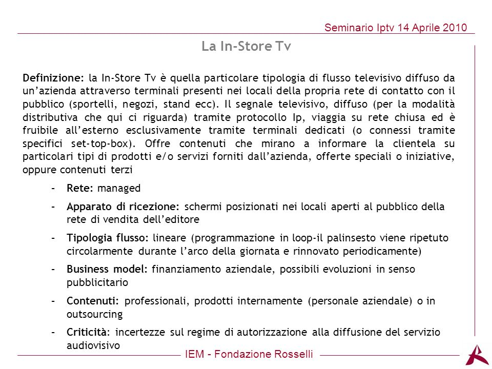 La In-Store Tv