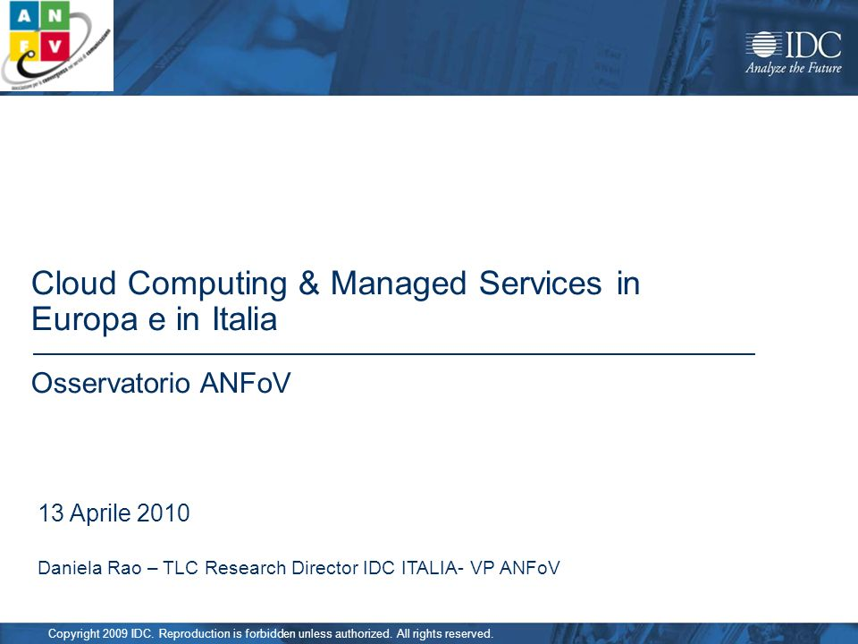 Cloud Computing & Managed Services in Europa e in Italia