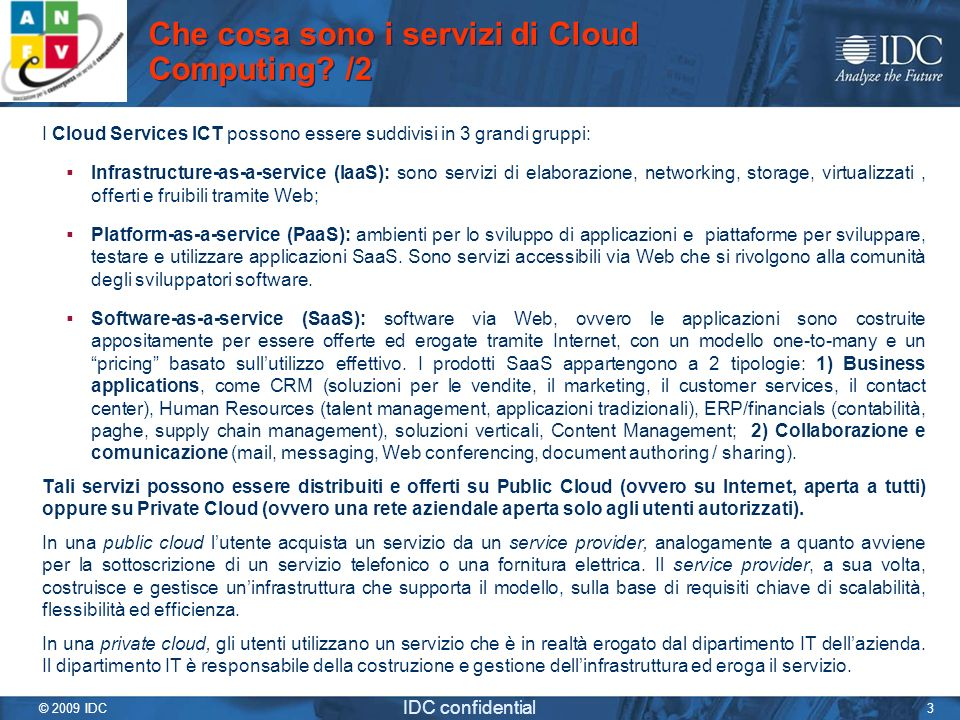 Che cosa sono i servizi di Cloud Computing /2