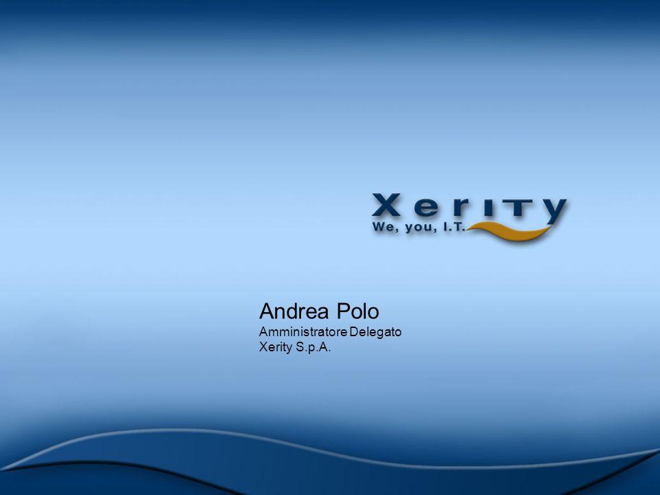 Andrea Polo Amministratore Delegato Xerity S.p.A.