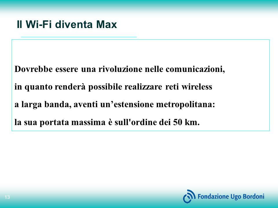 Il Wi-Fi diventa Max Dovrebbe essere una rivoluzione nelle comunicazioni, in quanto renderà possibile realizzare reti wireless.