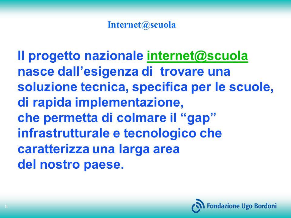 Il progetto nazionale internet@scuola