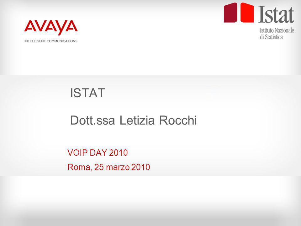 ISTAT Dott.ssa Letizia Rocchi