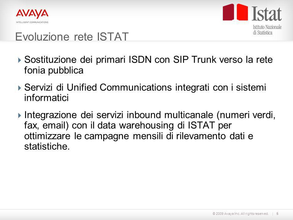 Evoluzione rete ISTAT Sostituzione dei primari ISDN con SIP Trunk verso la rete fonia pubblica.