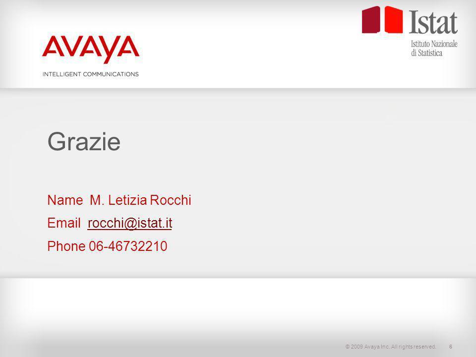 Name M. Letizia Rocchi Email rocchi@istat.it Phone 06-46732210