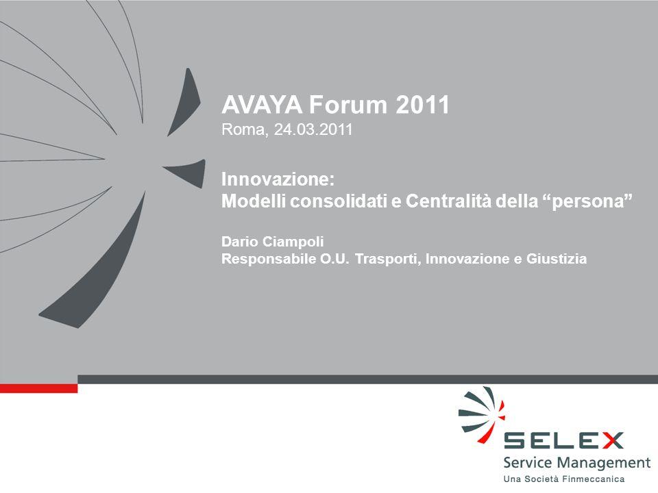 AVAYA Forum 2011 Innovazione: