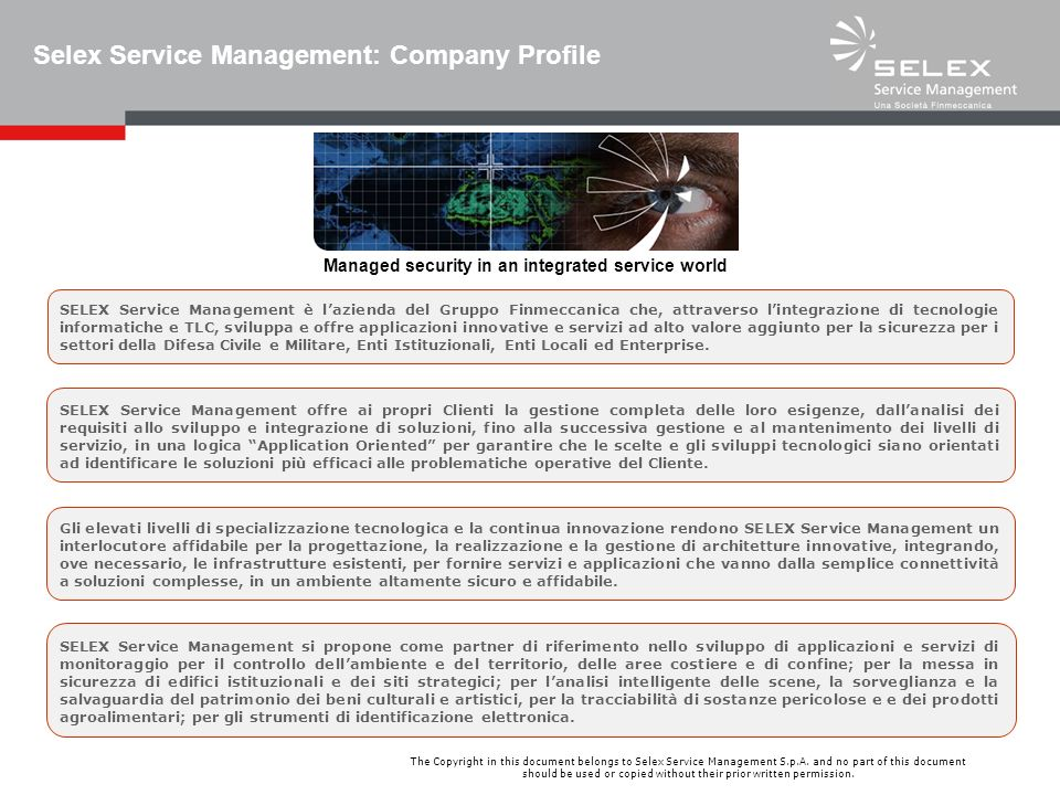 Selex Service Management: Company Profile