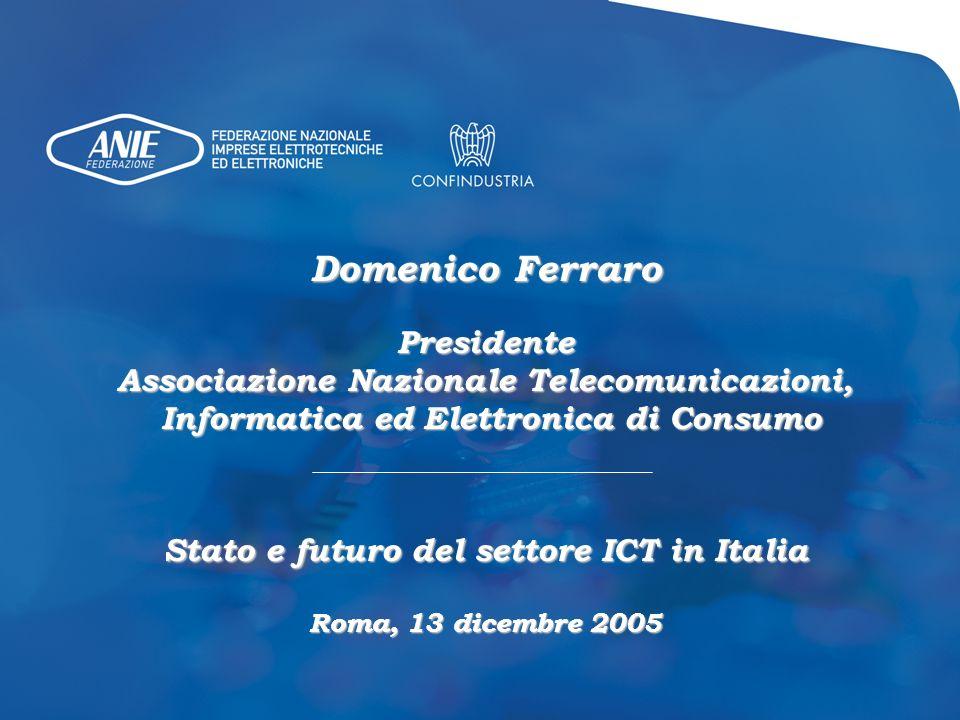 Domenico Ferraro Presidente Associazione Nazionale Telecomunicazioni,