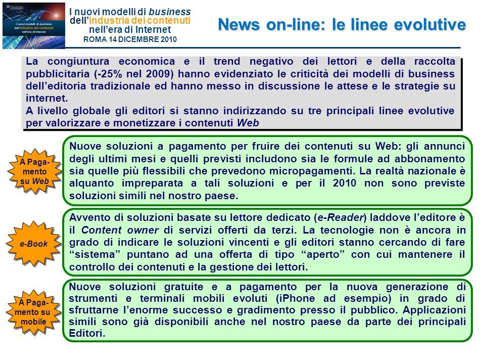 News on-line: le linee evolutive