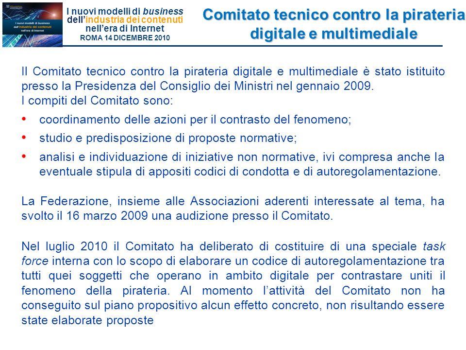 Comitato tecnico contro la pirateria digitale e multimediale