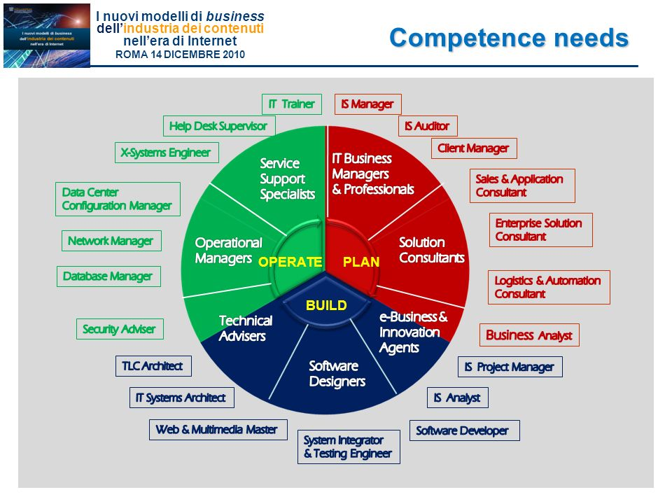 Competence needs IT Business Managers & Professionals Software