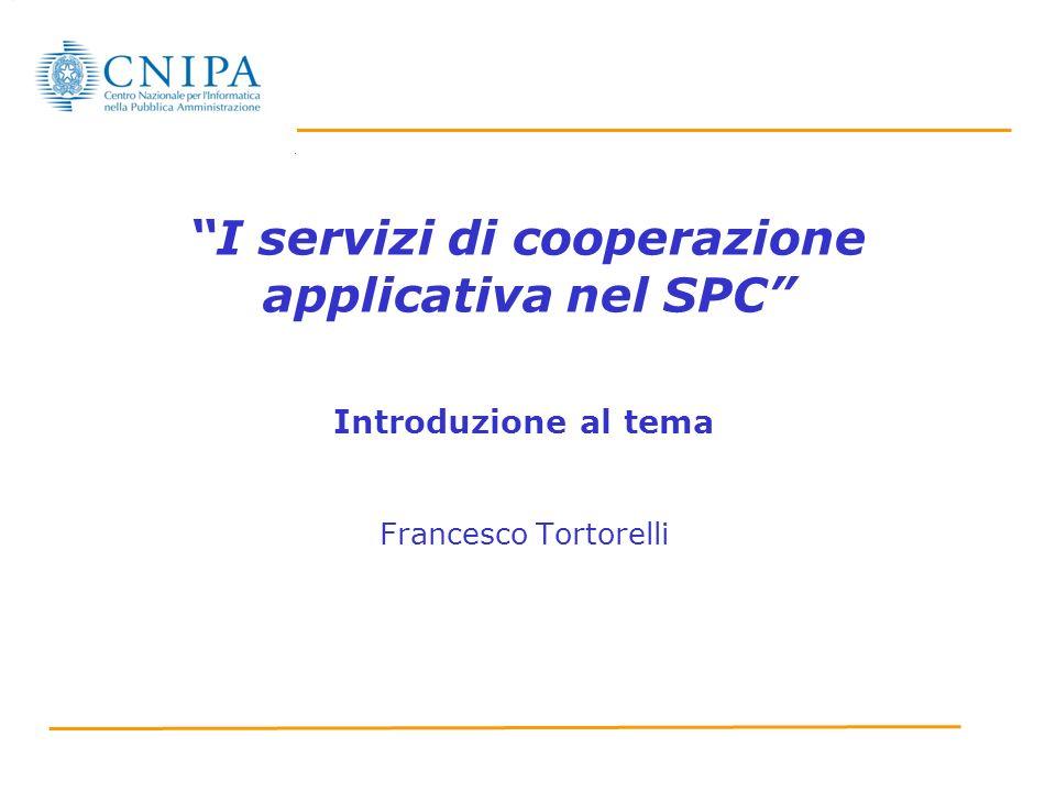 I servizi di cooperazione applicativa nel SPC
