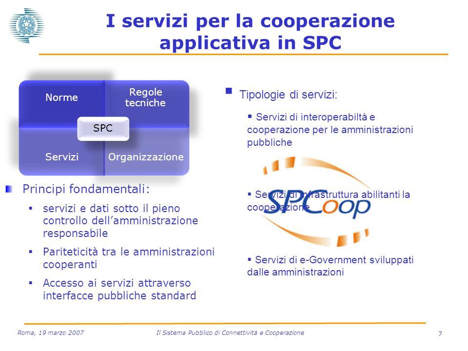 I servizi per la cooperazione applicativa in SPC